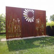 Sichtschutz, Designwand, Gartenstahl, Cortenstahl