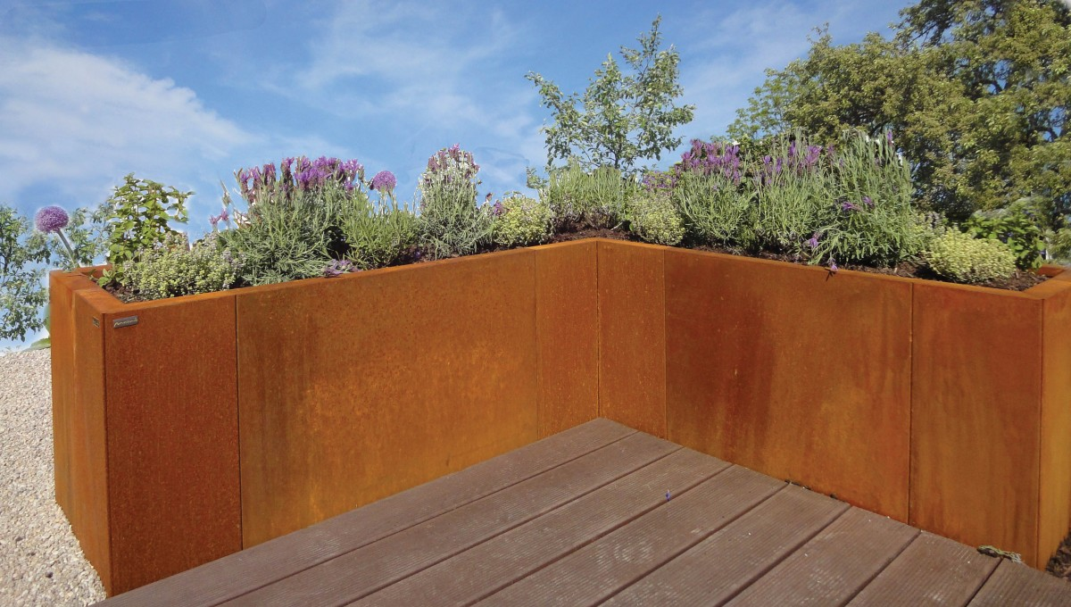 Ideen Aus Metall Für Garten Und Haus U2013 Ein Besonderes Hochbeet U2013  Baustofflust