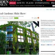 Vertikal Gärten, vertical gardens, Garden Design