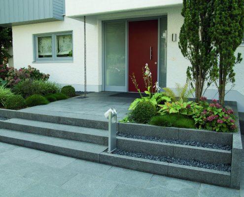 Naturstein, Granit, Garten, Platte, Haus, Eingang, Stufen