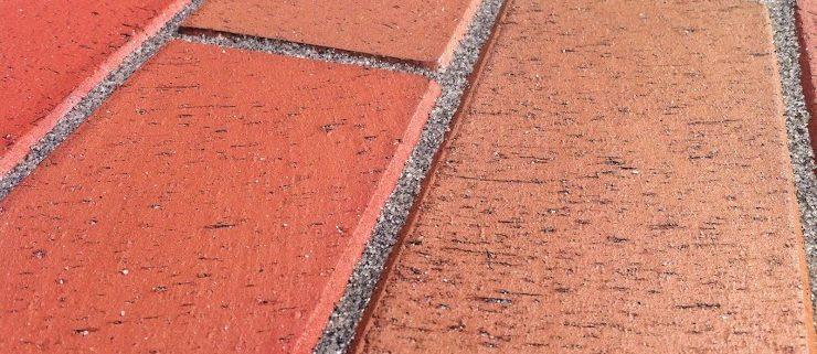 Pflasterklinker, rot, mit Fase, verfugt, vdw 850, Pflasterfugenmörtel